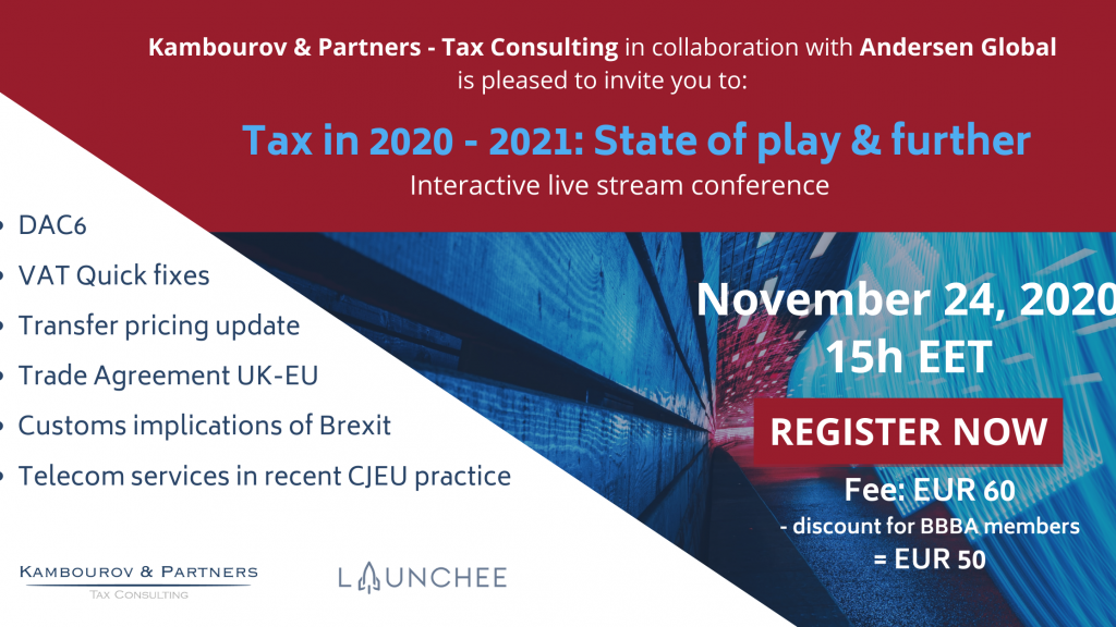 Conference: Tax in 2020-2021: State of Play & Further