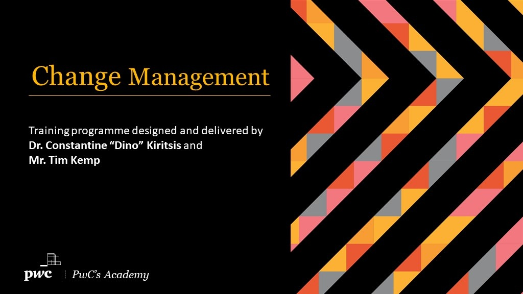 Change Management Programme starts on 10 March by PwC's Academy