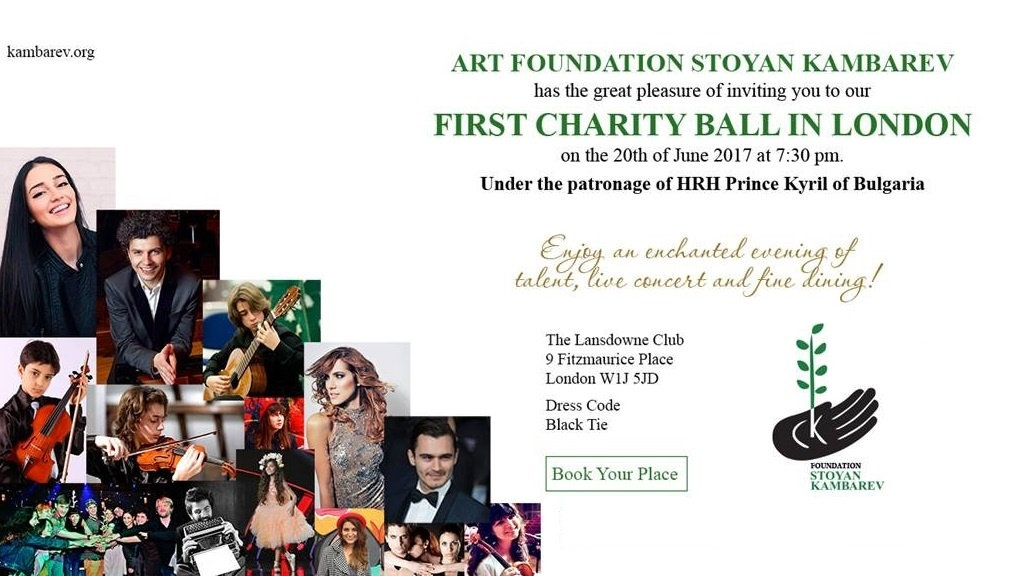 Art Foundation Stoyan Kambarev First Charity Ball in London