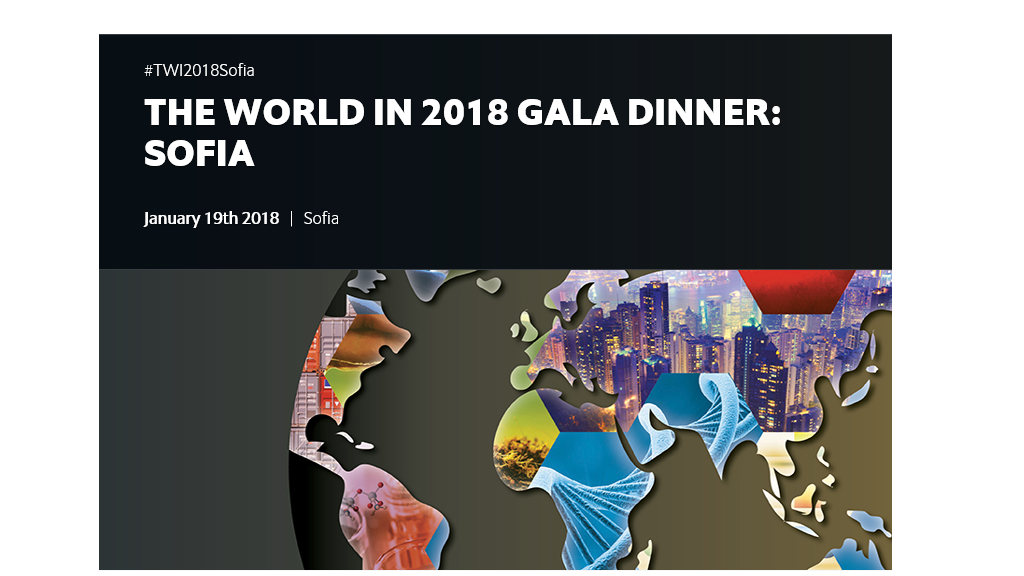 The World In 2018 Gala Dinner in Sofia