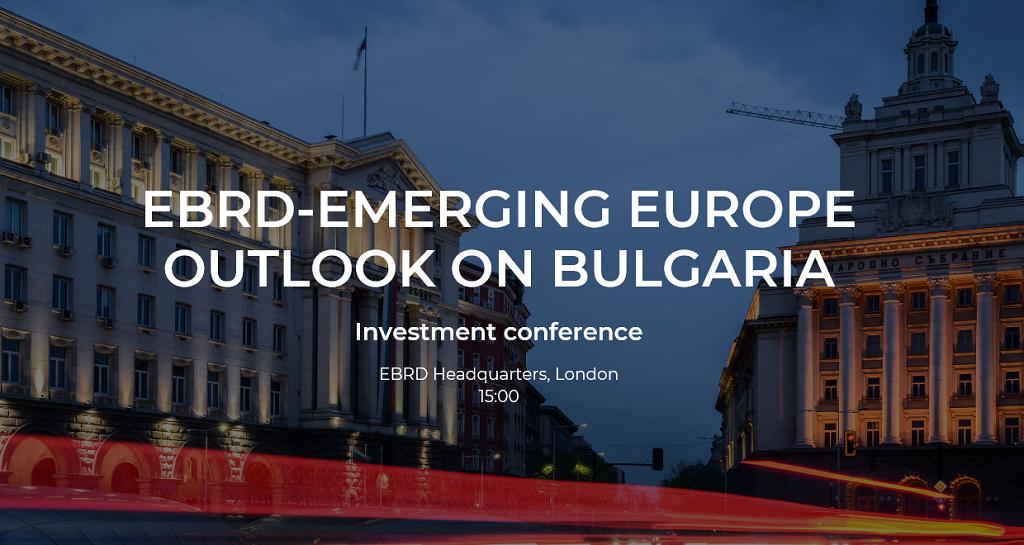 EBRD-Emerging Europe Outlook on Bulgaria