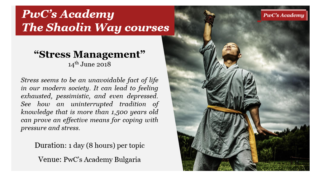 PwC's Academy - The Shaolin Way