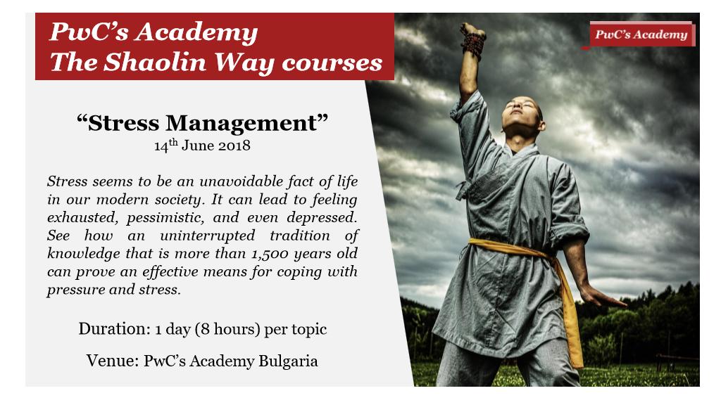 PwC's Academy - The Shaolin Way